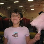 Face painting and cotton candy...